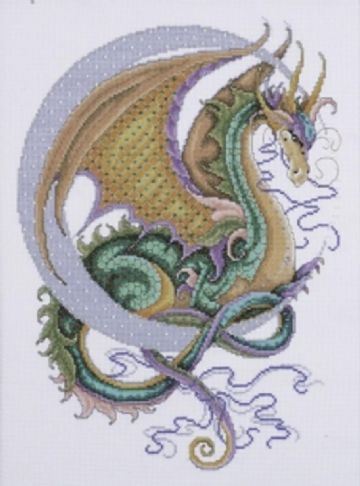 Celestial Dragon Cross Stitch Kit with beads from Desigh Works- 2717